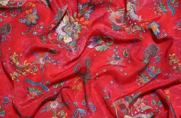 Exclusive New Collection Oscar De La Renta #8 Mulberry Silk Italian Fabric/Haute Couture Fabric 100% Silk Digital Inkjet /Fashion Fabric 3