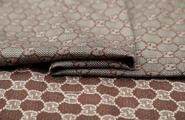 New! Gucci Jacquard Cotton Clothing Fabric,Upholstery Jacquard GG logo Print/ Various Colours Available Please check/ Italian Bag Jacquard 7