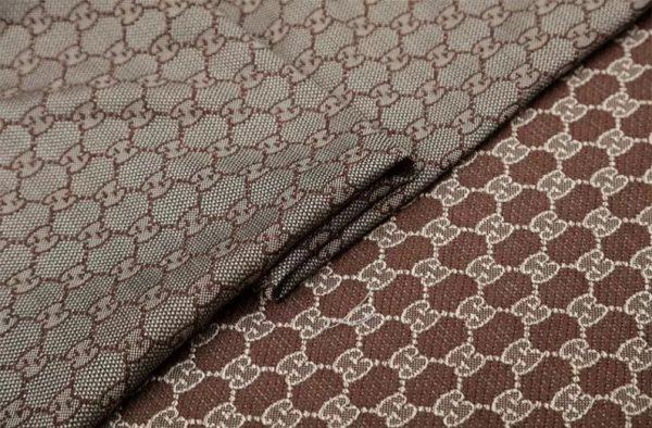 New! Gucci Jacquard Cotton Clothing Fabric,Upholstery Jacquard GG logo Print/ Various Colours Available Please check/ Italian Bag Jacquard 4