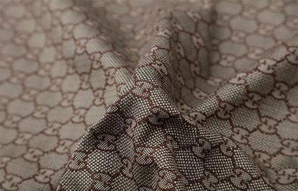 New! Gucci Jacquard Cotton Clothing Fabric,Upholstery Jacquard GG logo Print/ Various Colours Available Please check/ Italian Bag Jacquard 8