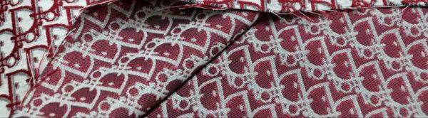 New! Designer Jaсquard Cotton Fabric Tapestry Dior Brocade Woven fabric/ Haute Couture Jacquard Upholstery/Fashion Jacquard Tapestry RED #1 5 ⋆ Rozitta Rapetti