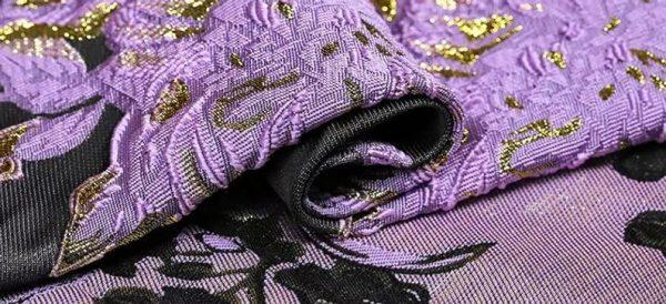 New Collection 3D Italian Designer Jacquar Fabric Nylon,Polyester,,metal thread Fabric Haute Couture Jacquard Brocade VERY RARE Limited 5