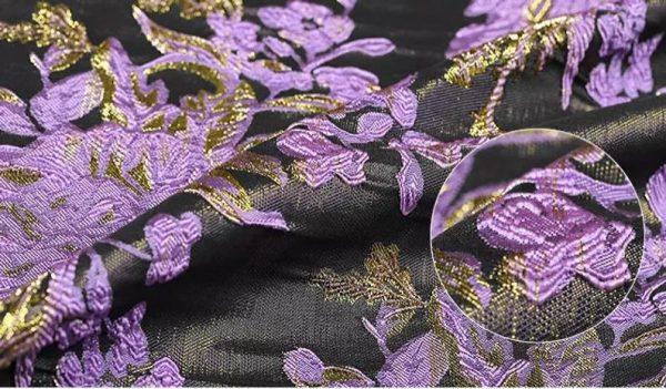New Collection 3D Italian Designer Jacquar Fabric Nylon,Polyester,,metal thread Fabric Haute Couture Jacquard Brocade VERY RARE Limited 6
