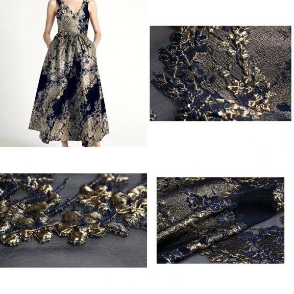 New Collection 3D Italian Designer Jacquar Fabric Nylon,Polyester,,metal thread Fabric Haute Couture Jacquard Brocade VERY RARE Limited 4