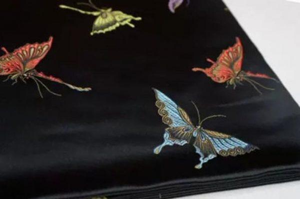 Valentino Italian Designer Fabric Silk Satin Butterfly Pattern/Valentino fashion Week Fabric New Collection Italian Fabrics 2 ⋆ Rozitta Rapetti