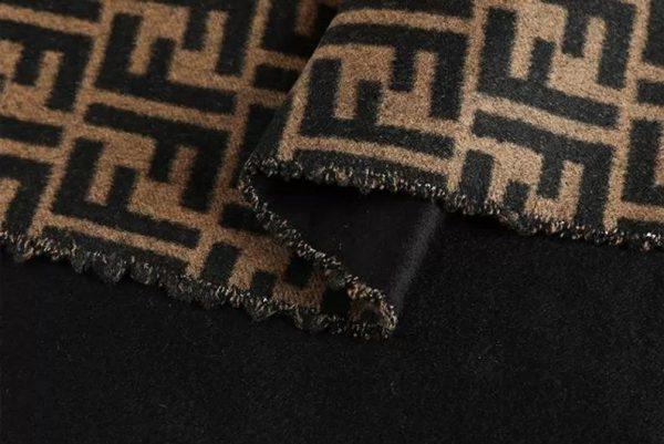 Fendi Italian Designer Fabric Fendi Double Cashmere Wool width 150cm/weight 850gr Fendi fabric for coat,clothing,upholstery fendi jacquard 3