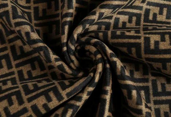 Fendi Italian Designer Fabric Fendi Double Cashmere Wool width 150cm/weight 850gr Fendi fabric for coat,clothing,upholstery fendi jacquard 4