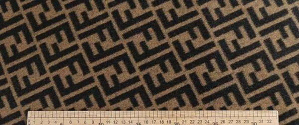 Fendi Italian Designer Fabric Fendi Double Cashmere Wool width 150cm/weight 850gr Fendi fabric for coat,clothing,upholstery fendi jacquard 8
