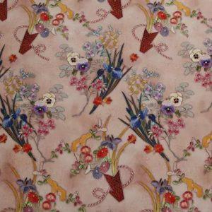 Exclusive New Collection Oscar De La Renta #3 Mulberry Silk Italian Fabric/Haute Couture Fabric 100% Silk Digital Inkjet /Fashion Fabric