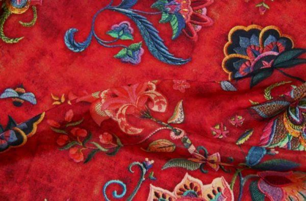 Exclusive New Collection Oscar De La Renta #6 Mulberry Silk Italian Fabric/Haute Couture Fabric 100% Silk Digital Inkjet /Fashion Fabric 8