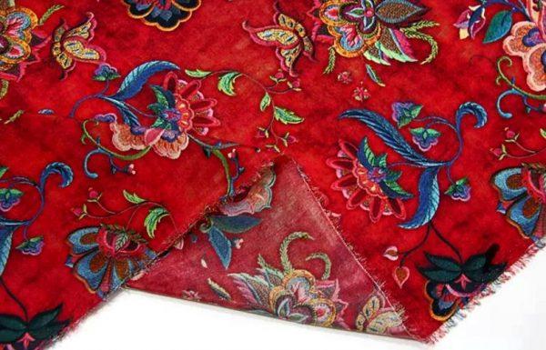 Exclusive New Collection Oscar De La Renta #6 Mulberry Silk Italian Fabric/Haute Couture Fabric 100% Silk Digital Inkjet /Fashion Fabric 9