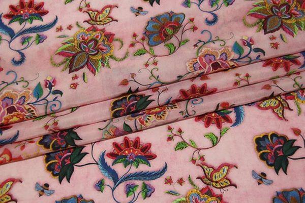 Exclusive New Collection Oscar De La Renta #7 Mulberry Silk Italian Fabric/Haute Couture Fabric 100% Silk Digital Inkjet /Fashion Fabric 4