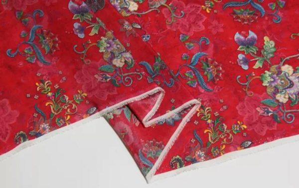 Exclusive New Collection Oscar De La Renta #8 Mulberry Silk Italian Fabric/Haute Couture Fabric 100% Silk Digital Inkjet /Fashion Fabric 7
