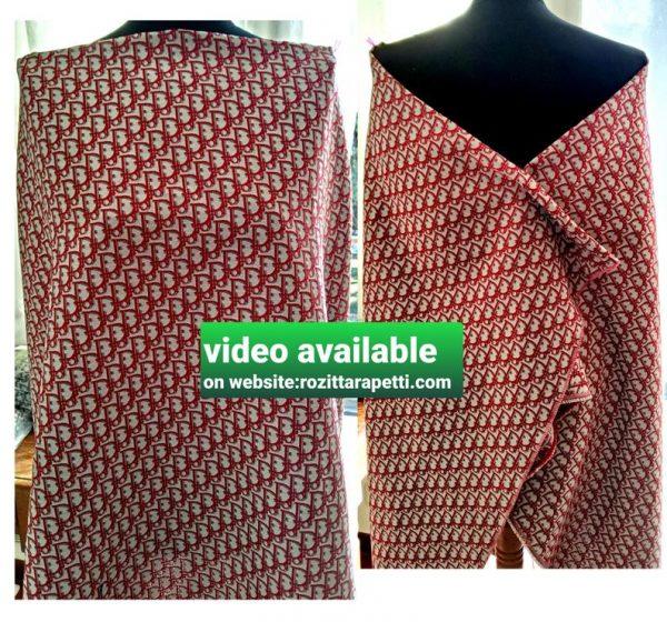 New! Designer Jaсquard Cotton Fabric Tapestry Dior Brocade Woven fabric/ Haute Couture Jacquard Upholstery/Fashion Jacquard Tapestry RED #1 1 ⋆ Rozitta Rapetti