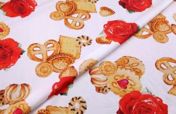 20200103 001348 Designer Cotton Fabric/Italian Designer Fabric/Biscuit and Rose's Print on Cotton/Italian Designer Fabric at Sale Price! 3