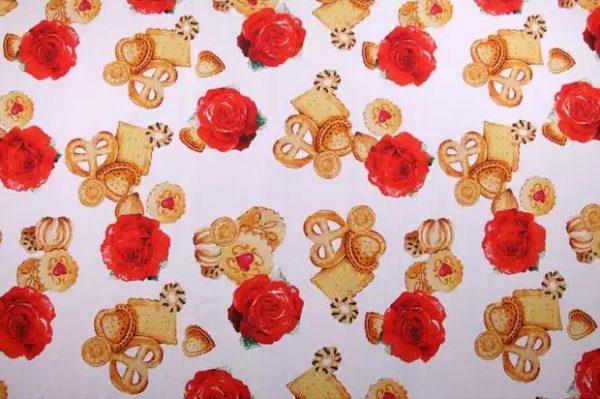 20200103 001407 Designer Cotton Fabric/Italian Designer Fabric/Biscuit and Rose's Print on Cotton/Italian Designer Fabric at Sale Price! 4