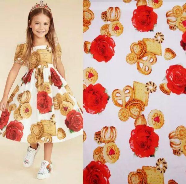 20200103 001418 Designer Cotton Fabric/Italian Designer Fabric/Biscuit and Rose's Print on Cotton/Italian Designer Fabric at Sale Price! 1