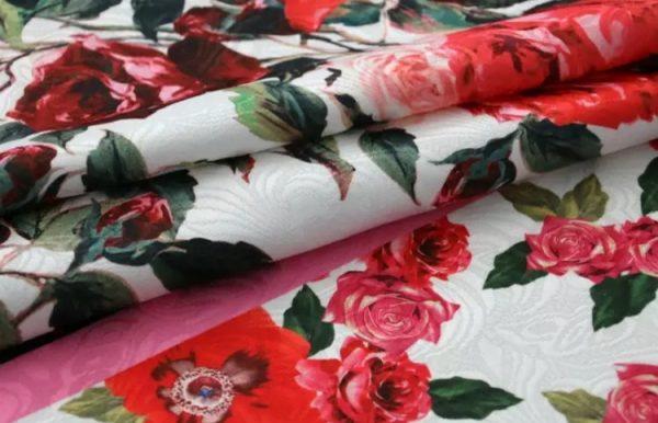 20200103 002852 Sicily Show Cotton Jacquard Fabric/Italian Designer jacquard Capri Show/Fashion Week Fabric 4
