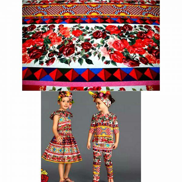 Dolce Gabbana Sicily Show Cotton Jacquard Fabric