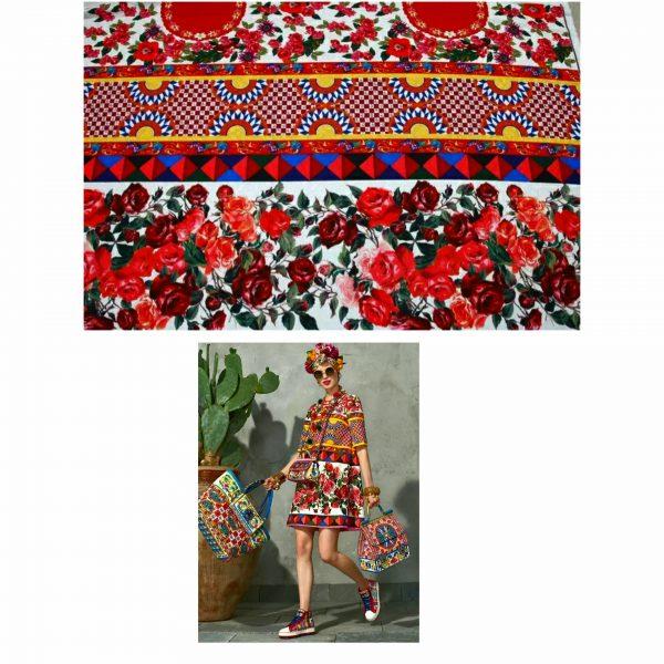 20200103 003644 Sicily Show Cotton Jacquard Fabric/Italian Designer jacquard Capri Show/Fashion Week Fabric 7