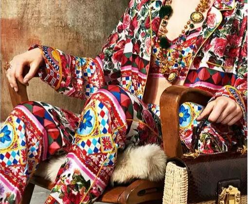 20200103 004821 Majolica Silk Fabric/Sicily Show Italian Designer Silk Fabric/Majolica Print Italian Silk Fabric 3