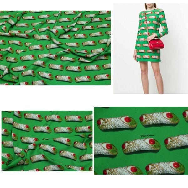 20200110 214038476 Designer SILK Fabric/Sicily Show Fabric/Italian Designer Fabric/Limited Quantity Fabric 1