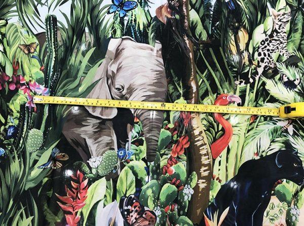 20200118 141803 Jungle Elephant Print fabric/ 2020collection fabric/Italian Designer Fabrics 7