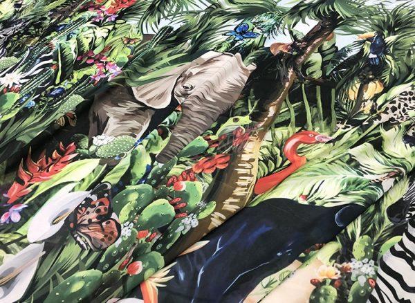 20200118 141810 Jungle Elephant Print fabric/ 2020collection fabric/Italian Designer Fabrics 4