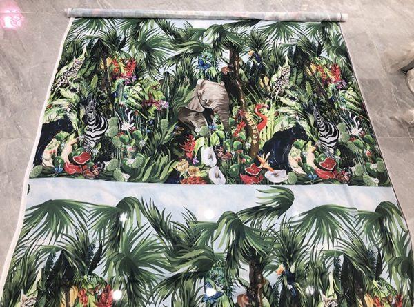 20200118 141819 Jungle Elephant Print fabric/ 2020collection fabric/Italian Designer Fabrics 3