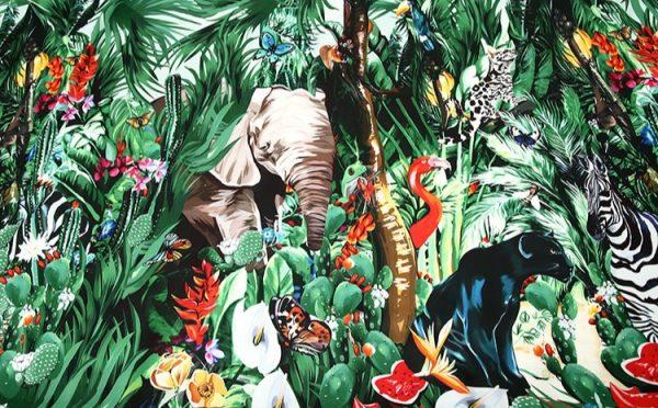 20200118 141902 Jungle Elephant Print fabric/ 2020collection fabric/Italian Designer Fabrics 1