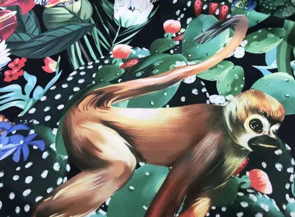 20200118 142344 Designer Jungle Print fabric Polyester/Italian Designer Fabrics/2020 collection fabric/Italian Designer Fabrics 6