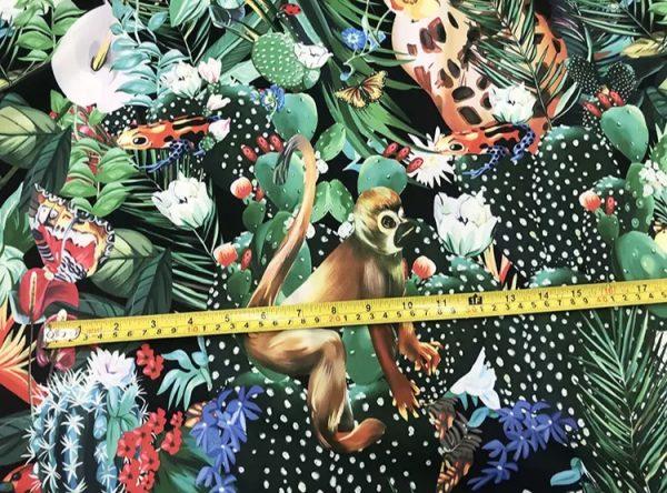 20200118 142353 Designer Jungle Print fabric Polyester/Italian Designer Fabrics/2020 collection fabric/Italian Designer Fabrics 9