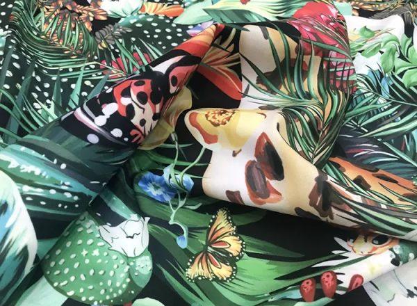 20200118 142401 Designer Jungle Print fabric Polyester/Italian Designer Fabrics/2020 collection fabric/Italian Designer Fabrics 8