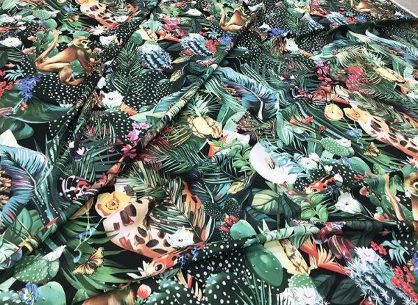 20200118 142408 Designer Jungle Print fabric Polyester/Italian Designer Fabrics/2020 collection fabric/Italian Designer Fabrics 5