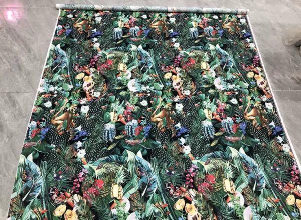 20200118 142429 Designer Jungle Print fabric Polyester/Italian Designer Fabrics/2020 collection fabric/Italian Designer Fabrics 7