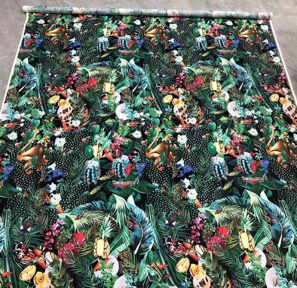 20200118 142518 Designer Jungle Print fabric Polyester/Italian Designer Fabrics/2020 collection fabric/Italian Designer Fabrics 3