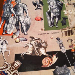 HISTORICAL ANCIENT ROMAN DESIGN HAUTE COUTURE ITALIAN FABRIC