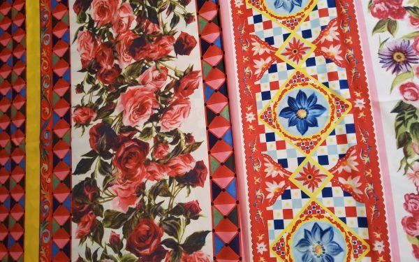Dolce Gabbana Silk Fabric/Sicily Show Italian Designer