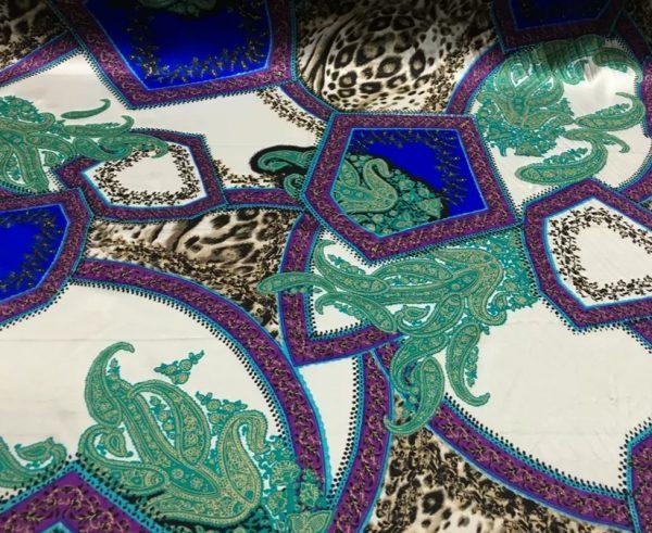 20200811 052125 Etro Silk leopard print and paisley pattern silk fabric/New Collection Fashion Week Silk/Italian Designer Silk Fabric 7