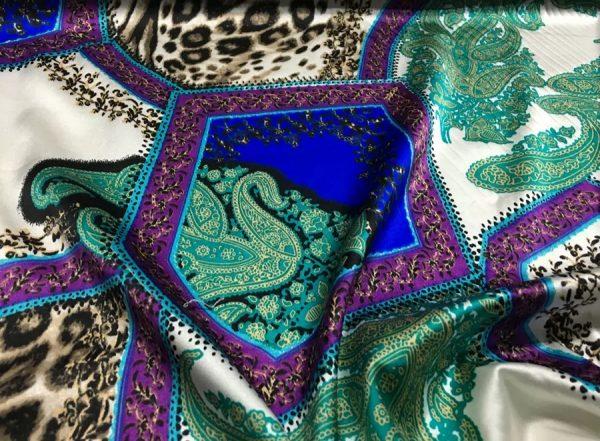 20200811 052223 Etro Silk leopard print and paisley pattern silk fabric/New Collection Fashion Week Silk/Italian Designer Silk Fabric 2