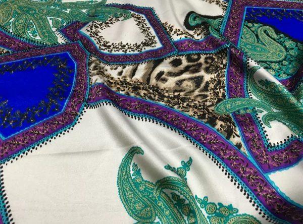 20200811 052251 Etro Silk leopard print and paisley pattern silk fabric/New Collection Fashion Week Silk/Italian Designer Silk Fabric 6