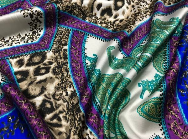 Etro Silk leopard print and paisley pattern