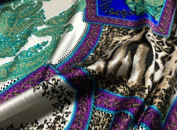 20200811 052331 Etro Silk leopard print and paisley pattern silk fabric/New Collection Fashion Week Silk/Italian Designer Silk Fabric 4