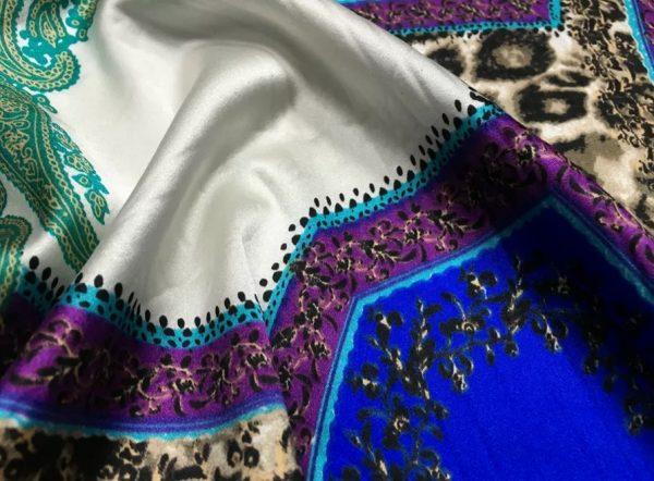 20200811 052351 Etro Silk leopard print and paisley pattern silk fabric/New Collection Fashion Week Silk/Italian Designer Silk Fabric 5