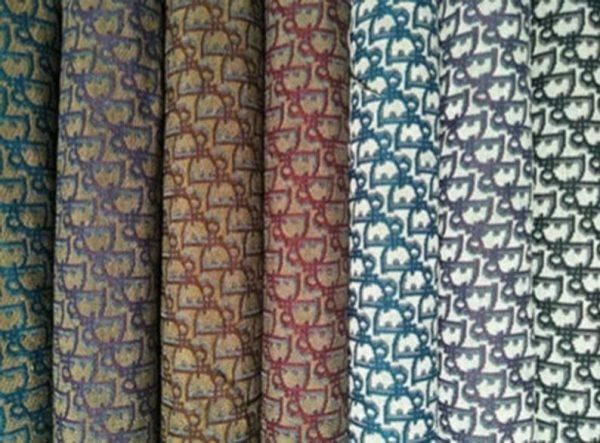 Designer Jaquard Cotton Fabric Tapestry Dior Brocade Woven fabric