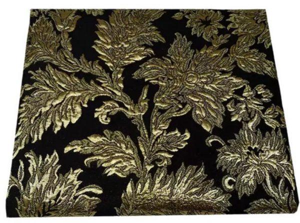 Italian Jacquard Gold Yarn Foliage Pattern 3D fabric