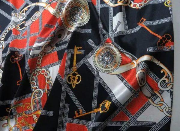 Rare Colour Silk Stretch Inkjet 19momme Italian Authentic Designer Fabric Fashion 98%silk,2spandex/ Belt,key,chain inkjket Fabric 1