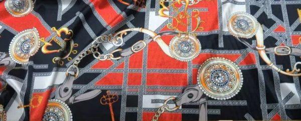 Rare Colour Silk Stretch Inkjet 19momme Italian Authentic Designer Fabric Fashion 98%silk,2spandex/ Belt,key,chain inkjket Fabric 5