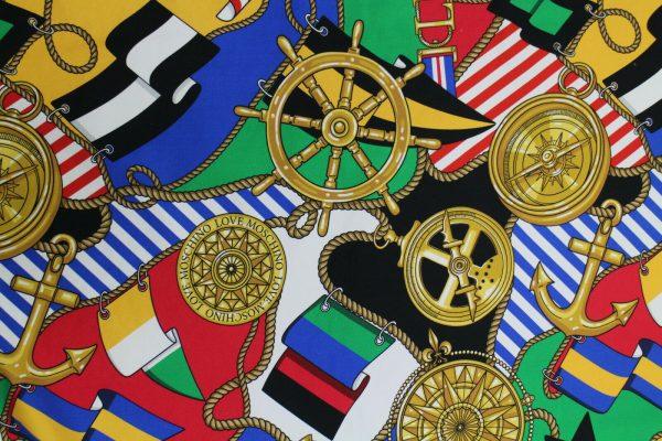 Moschino Fabric/Italian Designer Fabric/Haute Couture Cotton Fabric/Limited Quantity/Price for Lot 165cm/Denim Like Fabric 7 ⋆ Rozitta Rapetti