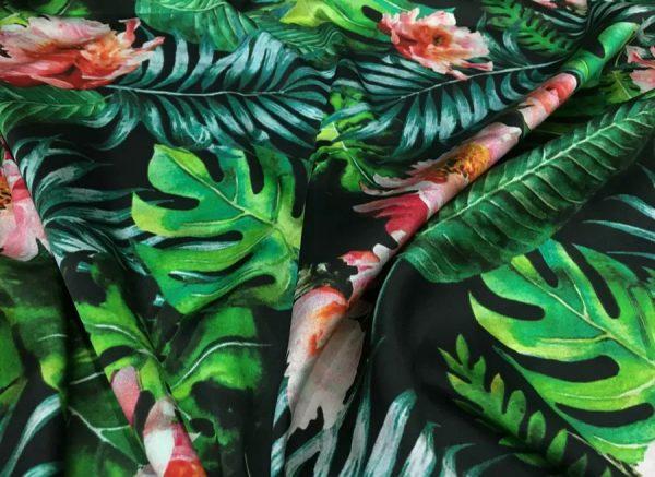 Dolce Gabbana Silk Fabric Banana Leaf